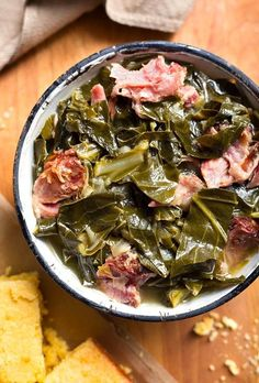 Rich, flavorful Instant Pot Collard Greens & a ham hock are delish! We love these pressure cooked collard greens with cornbread! Faster than on the stove! Crockpot Collard Greens, Cooking Collard Greens, Southern Collard Greens, Collard Greens Ham Hock Recipe, Instant Pot Dinner Recipes, Side Dish Recipes, Instant Pot Collard Greens Recipe, Side Dishes, Kitchen