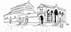 4th century Eleona Church based on pilgrim's accounts, Olive Mount
