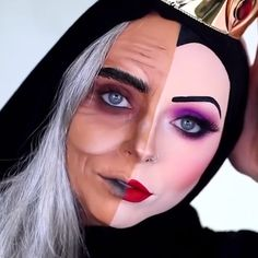 Are you looking for inspiration for your Halloween make-up? Browse around this site for creepy Halloween makeup looks. Beautiful Halloween Makeup, Creepy Halloween Makeup, Halloween Nails, Evil Queen Makeup, Evil Makeup, Drag Queen Makeup, Sfx Makeup, Drugstore Makeup, Makeup Art