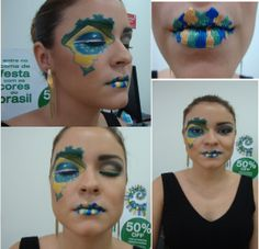 Maquiagem temática - Copa 2014