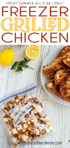 Enjoys the delicious tastes of summer all year long by freezing grilled chicken!  Makes for super easy meal prep and lots of quick meals!!  Especially great for those on keto or low-carb diets. No more grilling in the snow!  ;)  #freezerfriendly #freezer #freezermeals #chicken #grilledchicken #grill #easydinner Chicken Freezer Meals, Freezer Friendly Meals, Healthy Freezer Meals, Chicken Meal Prep, Make Ahead Meals, Freezer Cooking, Full Meals, Quick Meals, Best Chicken Recipes