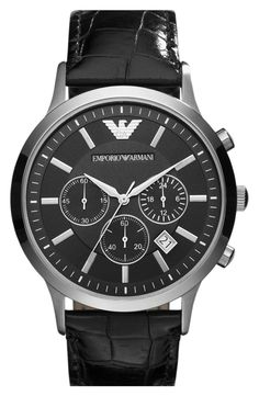 b853a84a4b3 Emporio Armani Stainless Steel Watch Cool Watches