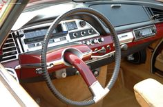 Citroen dashboard, with their signature single-spoke steering wheel