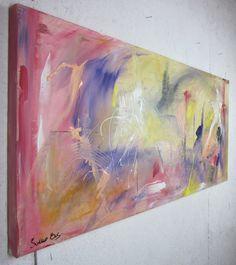 quadro astratto olio su tela 150x65 per info: http://www.saurobos.it/prodotto/quadri-astratti-informali-soggiorno-rosso-giallo/