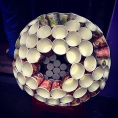 Circle with cups. :)