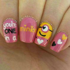 Pink minions-Valentine's