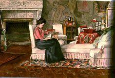"A painting done by the Grand Duchess Olga Alexandrovna Romanova of Russia. ""AL"""