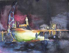 Hanse Sail, Seaside Theme, Watercolor Sea, Palette, The Good Place, Nautical, Studio, Painting, Watercolours