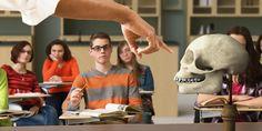 Alumnos a los que se les enseña la teoría de la evolución