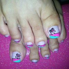 See related links to what you are looking for. Cute Pedicure Designs, Toe Nail Designs, Cute Toe Nails, Toe Nail Art, Pretty Pedicures, Pretty Nails, Feet Nail Design, Wonder Nails, Finger