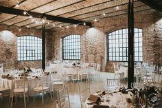 Industrial winter wedding  Pinewood Weddings Wedding Places, Dance Studio, Real Weddings, Industrial, Table Decorations, Winter, Home Decor, Wedding Reception Venues, Homemade Home Decor