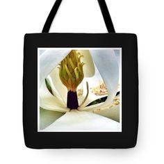 "Inside Magnolia Tote Bag 18"" x 18"" by Susan Garren"