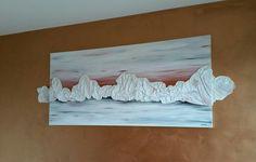 Tramonto sul Perito Moreno. Acrilico e lino su tela. By Annalisa Tombesi