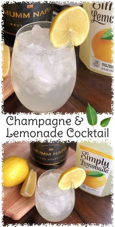 Champagne and Lemonade Cocktail Recipe 8 Ways You Didnt Know You Could Drink Wine to make it better colder or more flavorful Simple tips and tricks including wine cubes. Lemonade Cocktail, Champagne Cocktail, Cocktail Drinks, Cocktail Recipes, Alcoholic Drinks, Drink Recipes, Beverages, Fruit Drinks, Drinks With Champagne