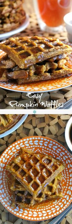 Easy Pumpkin Waffles have all the seasonings of a pumpkin pie. There are no surprises just really good flavor and texture that you can top with your favorite syrup. ~ http://veganinthefreezer.com