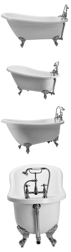 Bathtubs 42025: 61 Free Standing Acrylic Clawfoot Bathtub Drain Faucet  Pickup New Jersey  U003e