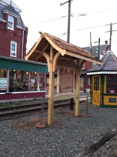 The beautiful boyertown information kiosk I built sponsored by the colebrook dale railroad