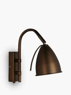 John Lewis & Partners Chelsea Adjustable Wall Light, Bronze at John Lewis & Partners Metal Finishes, John Lewis, Pewter, Sconces, Chelsea, Photo Galleries, Wall Lights, Bulb, Bronze