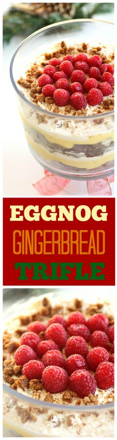 Eggnog Gingerbread Trifle - layers of gingerbread, eggnog pudding and whipped cream. So good! the-girl-who-ate-everything.com