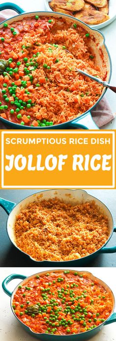Easy, flavorful and perfectly cooked Jollof rice made completely in the in the oven, 5 min prep - no blending or stirring involve. Spicy Recipes, Seafood Recipes, Vegetarian Recipes, Cooking Recipes, Vegetarian Lifestyle, Delicious Recipes, Side Dish Recipes, Dinner Recipes, Foods For Abs