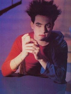 "Robert Smith, still from The Cure video for ""Let's Go to Bed"", 1984."