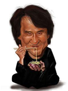 Jackie Chan - illustration of Ernesto Priego