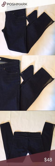 """Flash Sale J Brand TheDeal Skinny Zip Ankle Jean fabulous J Brand fit and quality! dark wash (color LAP) """"The Deal"""" Skinny Leg jeans with zipper detail at ankle. 98% cotton 2% spandex. excellent condition. size 27. waist flat is 15"""", front rise is 8"""", inseam is 29"""". 6F2643 J Brand Jeans Skinny"""