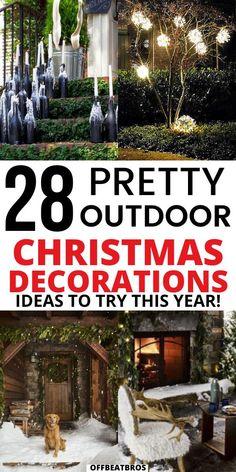 Diy Christmas Yard Decorations, Diy Yard Decor, Outside Decorations, Diy Christmas Yard Lights, Christmas Centerpieces, Christmas Christmas, Christmas Trends, Christmas Games, Holiday Ideas