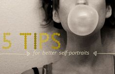 great tips // actual link: http://abeautifulmess.typepad.com/my_weblog/2011/08/5-tips-for-better-self-portraits.html