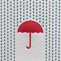 ⑤普通に箔押しでも雨っぽい表現はできるかも(普通のコート紙だとここまで箔が凹まないので、もう少しフラットな感じになってしまいますが…。)