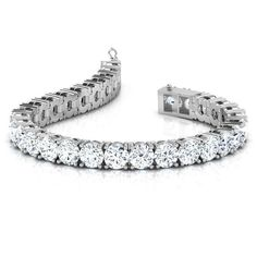 8265d316f66184 6.50 CT Round Diamond Tennis Bracelet 7