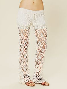 Anna K Crochet Pants at Free People Clothing Boutique