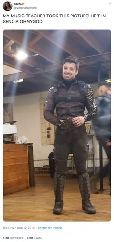 'Falcon and Winter Soldier' leaks reveal Sebastian Stan's new costume Winter Soldier Funny, Winter Soldier Cosplay, Soldier Costume, Sebastian Stan, Marvel Actors, Marvel Avengers, Funny Marvel Memes, Phil Coulson, Bucky Barnes