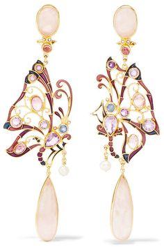 efcbce2c6b07 Percossi Papi - Gold-plated multi-stone earrings