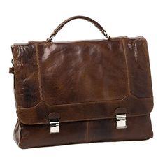 Cobb & Co Leather Briefcase Bag: Chocolate - $299.00 #travelbag #briefcasebag #mensbag