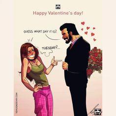 """8,058 curtidas, 80 comentários - Yehuda Devir (@jude_devir) no Instagram: """"Valentine's Day #illustration #ilovemywife #wife #wacom #comicartist #couples #gag #valentines…"""""""
