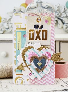 Crate Paper Tags & Cards :: Melissa Phillips.  I would want to just put this in a frame and stare at it every day.  I love it!