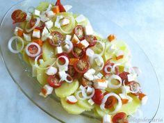 Ensalada de patatas y cherrys