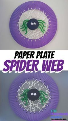 Paper plate spider web - Madhouse mummy - crafts for kids