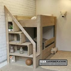 Bed Stairs, Bunk Beds With Stairs, Ikea Toy Storage, Loft Bed Plans, Kids Bedroom Furniture, Bedroom Decor, Bedding Inspiration, Bunk Bed Designs, Woodworking Furniture Plans
