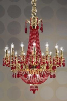 Red: #Red chandelier.