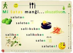Mi ŝatas manĝi akuzativoN. #migo #esperanto #akuzativon #salikoko #salato #saleto #salikuko #kuko #saliko #saluton