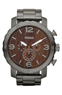 Fossil 'Nate' Chronograph Bracelet Watch, 50mm available at #Nordstrom