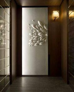 Artful elevator door