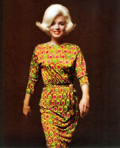 Marilyn Monroe photographed by Bert Stern, 1962. Wearing Pucci