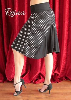 BLACK FRIDAY SALE Tango Milonga skirt black with by reinatango