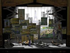"""theatresetsandprops — scenicdesign:   """"Sunday In The Park With George"""""""
