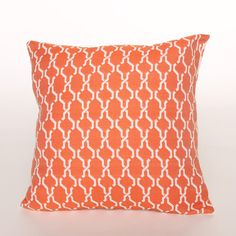 Orange Pattern Pillow by Arne and Olaf