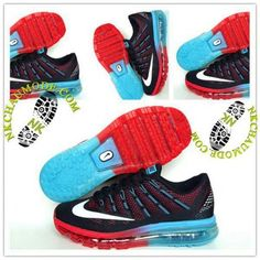 huge selection of e0b45 46679 Mode   Nike Chaussure Sport Air Max 2016 Homme Noir Bleu Rouge 01