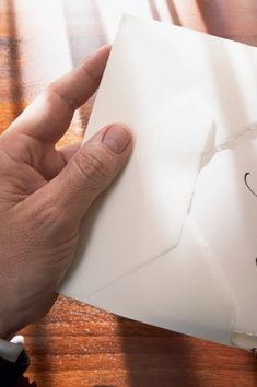 paper scraping against an envelope